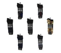 New Van Heusen Men's 4 pairs Premium Fashion Black Dress Socks size 10-13 - $11.76