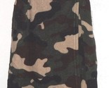 *BOBBIE BROOKS FLEECE COVER-UP WRAP SIZE S/M - L/XL GREEN CAMOUFLAGE PINK STARS