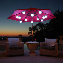 LED Globe Umbrella Lights (12 globe lights) - $213.99
