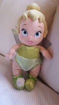 "Disney Babies Tinkerbell Plush Doll 13"" Disneyland World Baby Green Outfit Wings - $14.85"