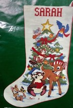Dimensions Jolly Animals Stocking Counted Cross Stitch KIT 1984 Linda Po... - $34.65