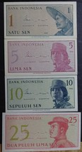 Four Uncirculated Notes from Indonesia - $1.95