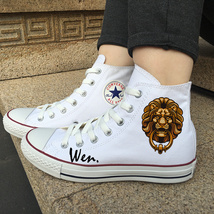 Original Design Lion Head Door Holder Converse White Canvas Shoes Sneakers - $119.00