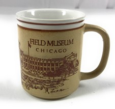 Field Museum of Natural History Chicago Illinois Coffee Mug Cup Brown Em... - $14.80