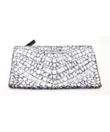 Victoria's Secret silver Sequin and Jeweled Clutch - $33.24