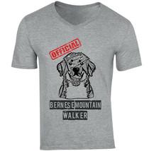 Bernese Mountain Dog - Official Walker - New Cotton Grey V-NECK Tshirt - $20.70