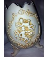 Vintage Lefton Victorian Cherub/Angel 3 Legged Egg Vase # 1814 - $19.99
