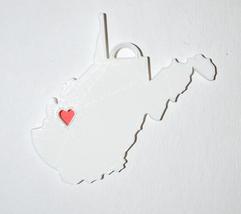 West Virginia State Charleston Heart Ornament Christmas Decor USA PR244-WV - $3.99+