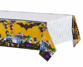 "American Greetings Lego Batman Party Supplies, Plastic Table Cover, 54"" x 96"" - $9.49"