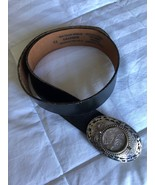 Top Grain Bridle Black Leather Belt US Postal Certified Pluribus 1888 Si... - $79.20
