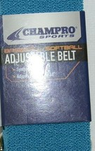 Champro Sports Baseball Softball Adjustable Belt 24 To 48 Inches A062 Teal Color image 2
