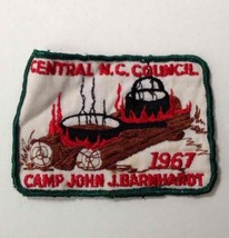 1967 Boy Scouts of America Central NC Council Camp John J Barnhardt Patc... - $7.23