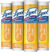 Lysol Smart Refill Cartridges, 4 Count, Multi-Purpose Cleaner, Citrus Breeze - $10.99