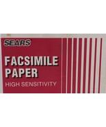 Vintage Sears Facsimile Paper 58684 High Sensitivity 49 Feet 3 Unused Rolls - $9.89