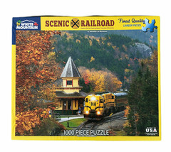 """White Mountain Puzzles """"Scenic Railroad"""" 1000 piece jigsaw puzzle Conway NEW - $49.99"""