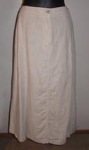 Sz 14 NWT Talbots New Natural Beige Soft Linen Long 8 Panel Modest Jean Skirt - $50.48