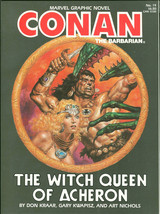 Conan The Barbarian Witch Queen of Acheron Marvel Graphic Novel GN REH Destroyer - $50.00