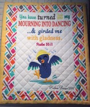 Christian Wall Hanging 12 x 14 Morning into Dancing Psalm 30:11 - $45.00