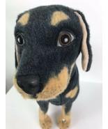 "Rottweiler Dog Stuffed Realistic Plush Stimulation Pet 18.5x20.5"" Bendab... - $39.59"