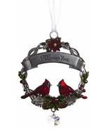 Attractive Zinc Christmas Cardinal Ornaments by Ganz- I Love You - $7.43