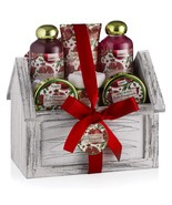 Home Spa Body Care Set Exotic Pomegranate Scent, 8 Pc Set - $50.00