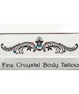 Body Tattoo Fine Crystal Jeweled Teal Fuchsia Multicolor Sexy - $12.99