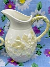 Vintage Beleek Irish Sugar & Creamer Ivy Luster Pattern 6th Mark 1965-19... - $33.20
