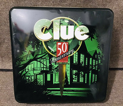 Parker Brothers CLUE 50th Anniversary Metal Tin Deluxe Edition Board Game - £46.11 GBP