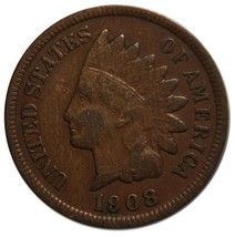 1908S Indian Head Penny / Cent Coin Lot# A 2208