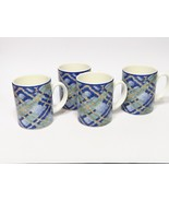Set of 4 vintage 1994 Royal Doulton Everyday Glen Ora Coffee Cups Mugs - $43.56