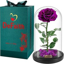 DEFAITH Real Rose 13''H Beauty and The Beast Enchanted Rose, Preserved F... - $114.87