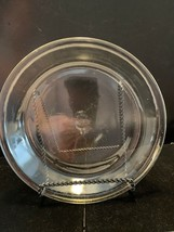 "Vintage Fire King Clear Glass Pie Plate 460 9"" - $10.00"