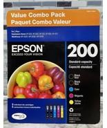 5-Combo Value Pack Genuine Epson 200 Tricolor/Black Standard Ink Sealed ... - $44.50