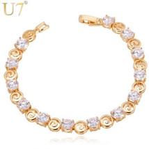 U7 Crystal Bracelet Vintage Unique Design Trendy Silver/Gold Color Luxur... - $24.50