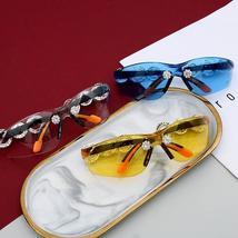 Yumomo Crystral Sunglasses Women Men Fashion Personlity Windshield UV Protection image 6