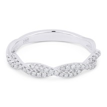 0.25 ct Round Diamond Anniversary Band Stackable 14k White Gold Right-Ha... - $679.00