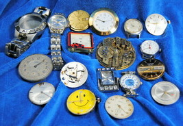 Various Watch Movements Bands For Parts Repairs Stratford Westclox Timex... - $20.95
