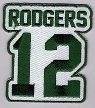 Aaron Rodgers No. 12 Patch - Jersey Number Football Sew or Iron-On Embro... - $6.88