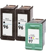 Hewlett Packard HP 96 (C8767WN) 2-PK Black & HP 97 (C9363WN) 1-PK Tri Co... - $30.38