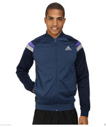 Adidas Anthem Men's Tricot Jacket Color Navy Color Block, Size Small. NWT - $37.61
