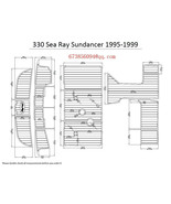 1995-1999 Sea Ray Sundancer 330 Boat Swim Platform & Cockpit EVA Teak De... - $949.00