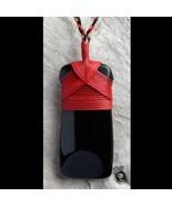 Hand Carved Maori Style Toki Pendant With Red Bindings In Australian Bla... - $192.00
