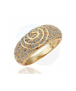 Size 8 Ashbury Metal 18K Yellow Gold Plated Rhinestone Crystal Ring - $11.08