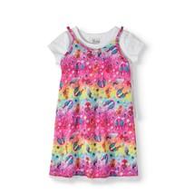 Dream Works Trolls Girls Dress Rainbow Lace Trim Slip Dress Medium 7-8 NEW - $12.46