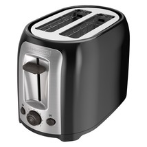 Black+Decker 2 Slice Toaster Stainless Stainless Steel Extra Wide Slot C... - $27.38