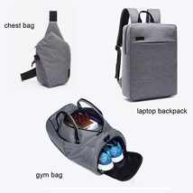 3-Piece Large Men Waterproof Snow Canvas Bag(Gym Bag+ Laptop Backpack+Ch... - $79.99+
