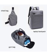 3-Piece Large Men Waterproof Snow Canvas Bag(Gym Bag+ Laptop Backpack+Ch... - $79.99