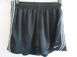Nike Dri Fit Black w/ White Work-out Warm-up Lined Shorts Sz XL! Polyester! - $8.91