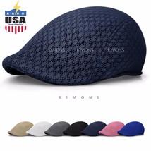 Duck Mesh Summer Gatsby Cap Mens Ivy Hat Golf Driving Sun Flat Cabbie Ne... - $20.90