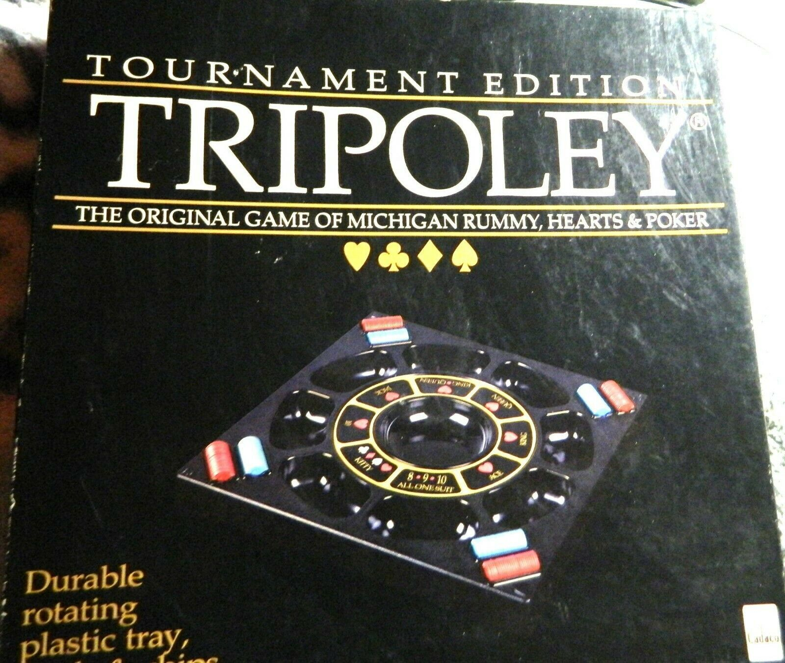 Tripoley Tournament Edition by Cadaco Board Game 1989 Turntable